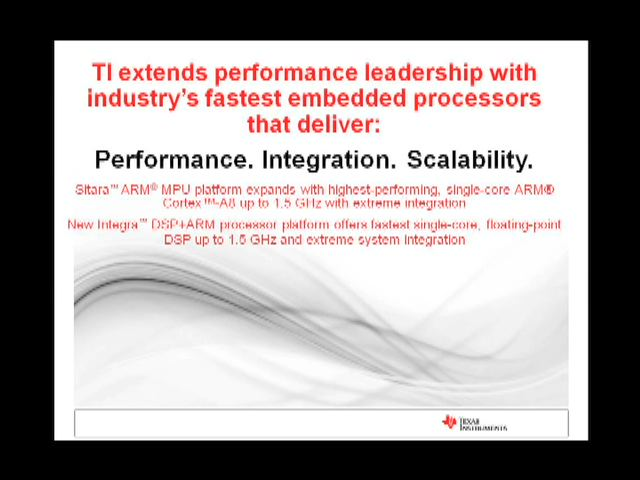 Offering industry's highest-performing single-core ARM® Cortex™-A8 and extreme system integration, Texas Instruments introduces its newest AM389x Sitara™ ARM microprocessors