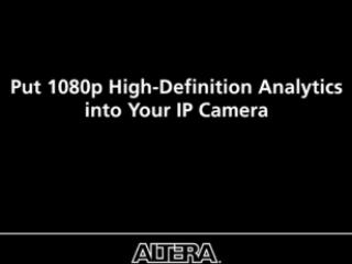 Altera and Eutecus Announce World's First 1080p/30fps Video Analytics Solution on an FPGA
