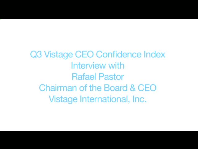 No Evidence of Impending Double Dip Recession According to Vistage CEO Confidence Index