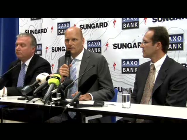 Saxo Bank's decision to continue its sponsorship is based on a desire to support Bjarne Riis.