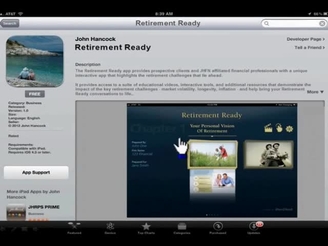 John Hancock Financial Network today introduced the Retirement Ready iPad app, an interactive tool designed to help financial professionals engage prospects and clients in an educational retirement income conversation.