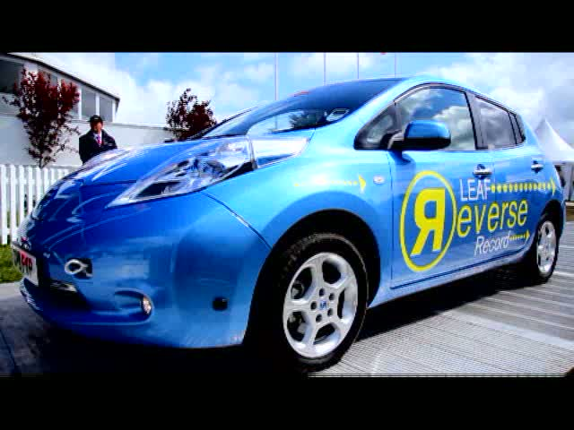 Nissan LEAF Backs into the Future