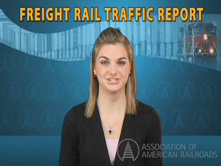 The Association of American Railroads' Monthly Rail Traffic Video, presented by a member of the association's policy and economics team, explores recent trends in rail traffic as an economic indicator. Both the Rail Time Indicators report and online video summary are available on the AAR web site: www.aar.org.