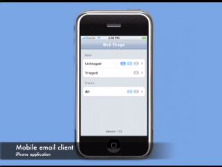 "IBM unveils a new research project that studies mobile device user behaviors to create a new application for managing mobile e-mail. The IBM Mail Triage project rethinks the mobile email experience by allowing users to quickly ""triage"" their email and identify what needs immediate action and what can be handled later."