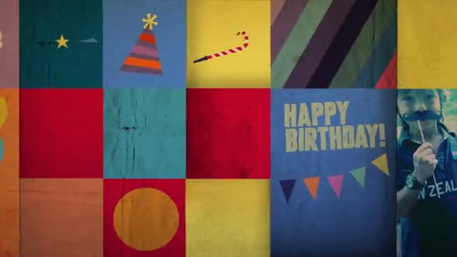 The Happy Birthday theme is a great way to send a personalized video birthday greeting. It can be completed in only minutes at Magisto.com.