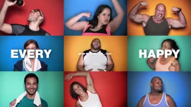 "Blink Fitness' ""Every Body Happy"" campaign video celebrates the booties, arms and bellies of all body types."
