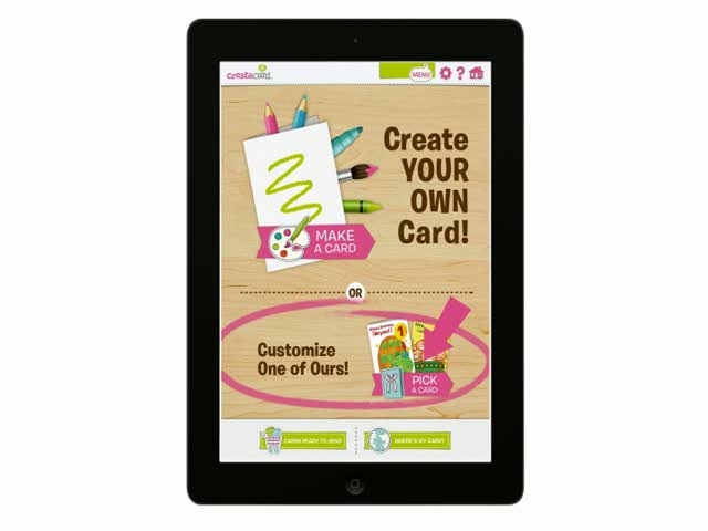 Your kids make the magic, then we mail it! Get the brand new Creatacard iPad app from American Greetings to bring your child's imagination to life as a professionally printed greeting card.