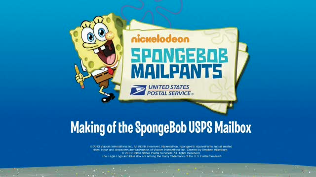 SpongeBob USPS Mailbox Video.