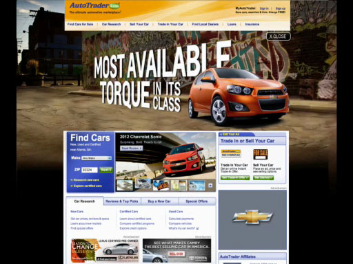 "AUTOTRADER.COM TAKES INTERACTIVE ADVERTISING INTO ""OVERDRIVE"""
