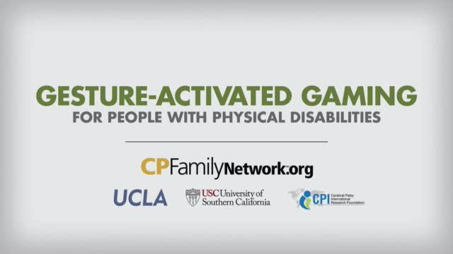 Children and teens with cerebral palsy delight in playing video games using only gestures
