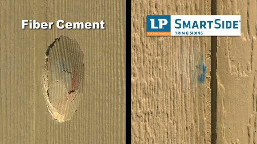 See how LP® SmartSide® stacks up against fiber cement in this head-to-head demonstration on durability. It's fast becoming the preferred choice to which homeowners, builders and remodelers are turning.