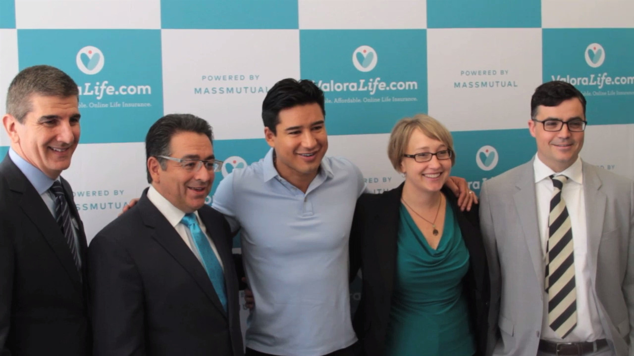 Celebrity entertainer Mario Lopez helped launch ValoraLife.com, an innovative way for families to buy life insurance online, in Houston.