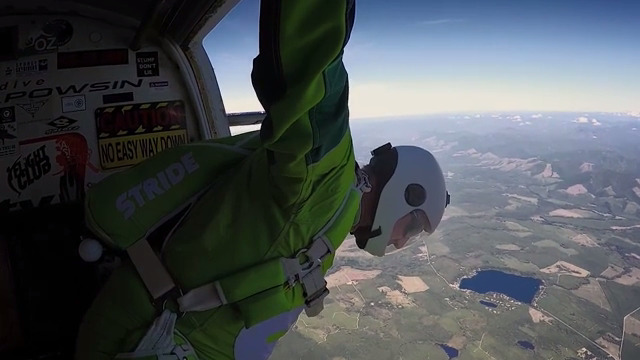 Teaser trailer for Stride Gum Presents Heaven Sent, Luke Aikins' historic jump from 25,000 feet without a parachute or wing suit, which will air July 30th on FOX.