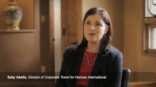 Sally Abella with Harman International talks about why they are integrating Sabre Virtual Meetings into their corporate travel program.