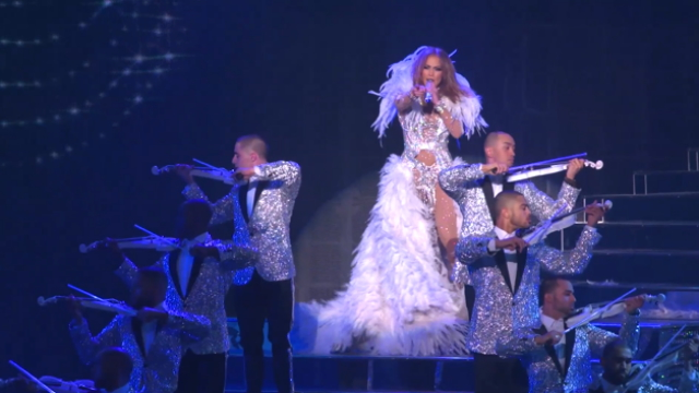 Jennifer Lopez celebrates launch of new Las Vegas headlining residency show JENNIFER LOPEZ: ALL I HAVE as well as grand opening of MR CHOW at Caesars Palace.