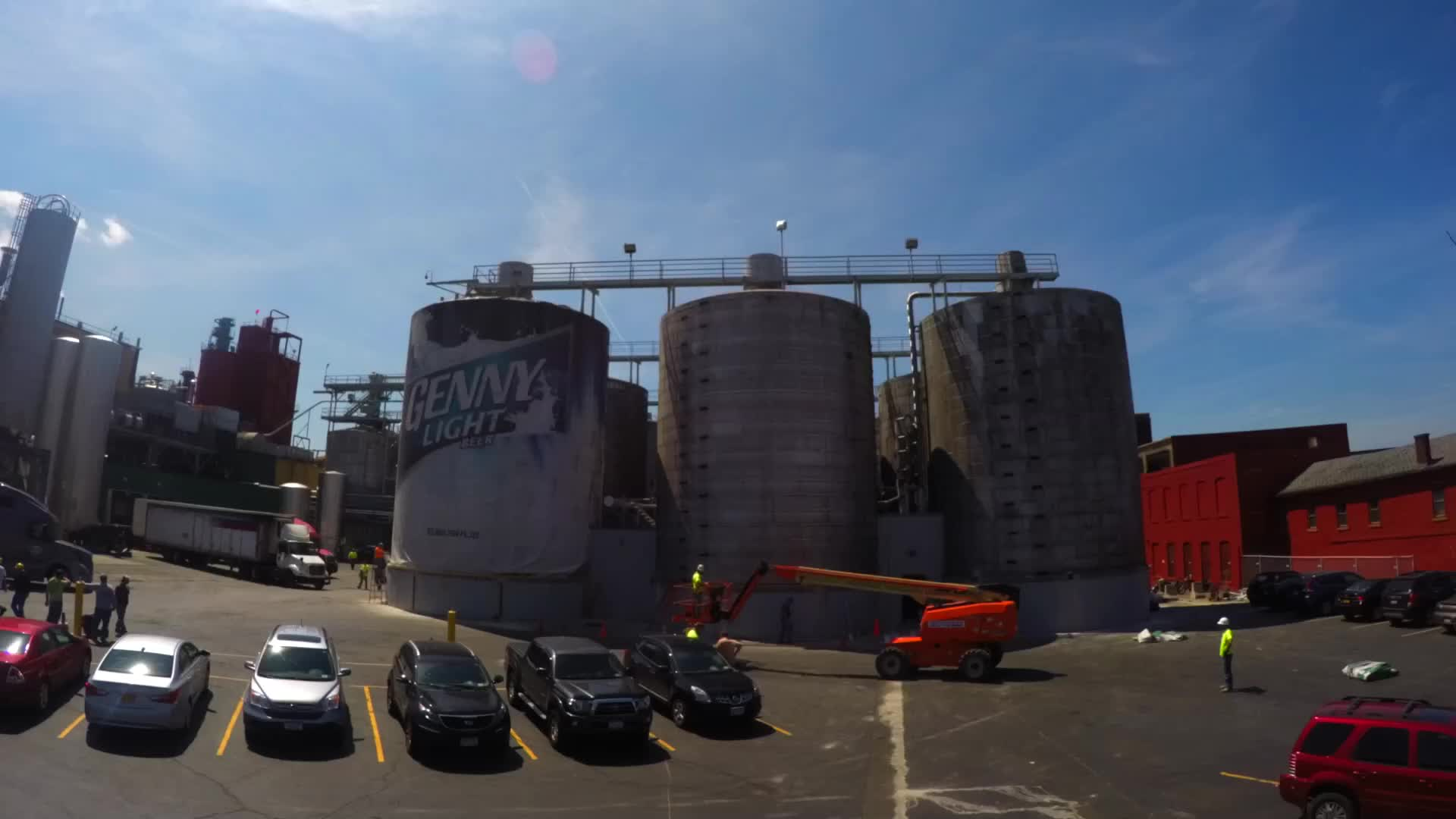 Time-lapse video reveals new Genesee Beer Packaging. Brewery takes innovative look to three-story-heights, creating huge versions of popular family of beers.