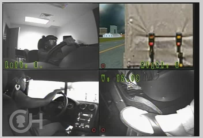 Researchers at The Children's Hospital of Philadelphia are using this driving simulator to understand why teen drivers crash, and discovered three common situations in which teens tend to crash, including following another vehicle too closely. In this video, the driver has not left enough room to avoid rear-ending the truck in front of her when it brakes. Researchers say helping teens to identify hazards and practice these skills in a safe environment may help them to avoid crashes on the road.