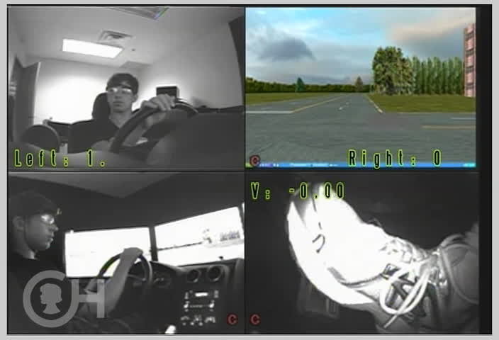 Researchers at The Children's Hospital of Philadelphia are using this driving simulator to understand why teen drivers crash, and discovered three common situations that lead to teen driver crashes, including making a left turn against traffic. In this video, the driver does not see the truck coming from his left before beginning his turn. Researchers say helping teens to identify hazards and practice these skills in a safe environment may help them to avoid crashes on the road.