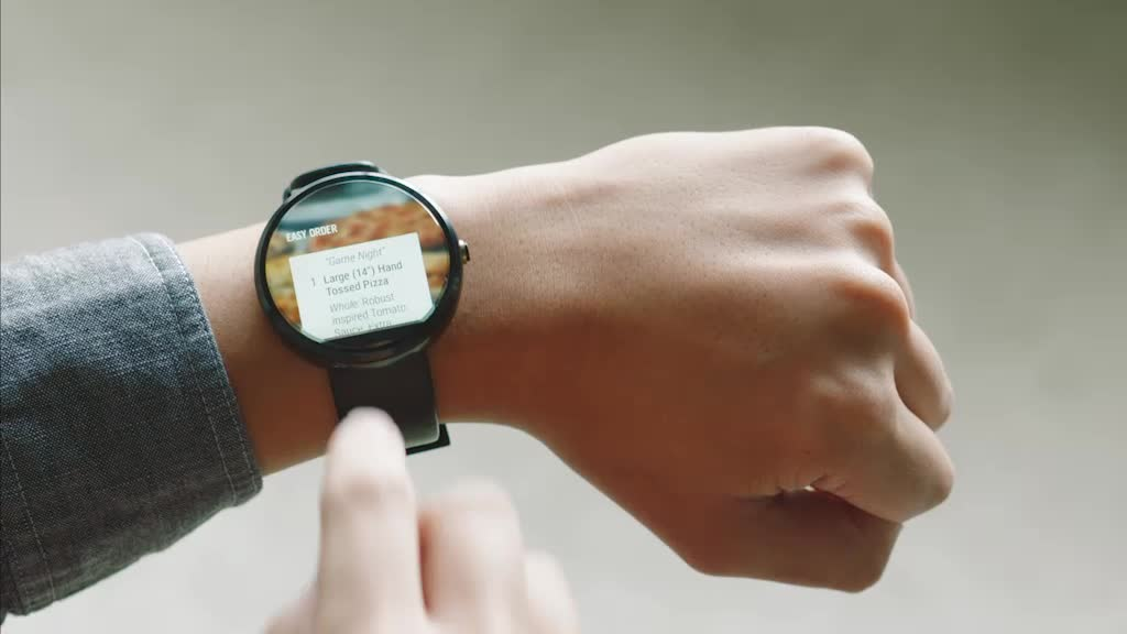 Domino's customers now have a whole new way to place and track their order - via Android Wear smartwatches.