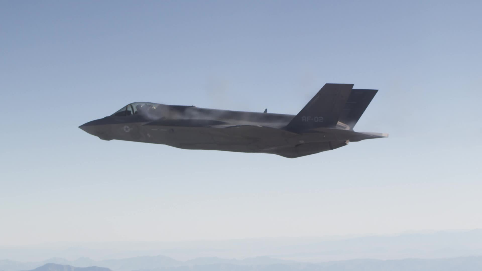 F-35A completes first aerial gun test at the China Lake, California, test range.
