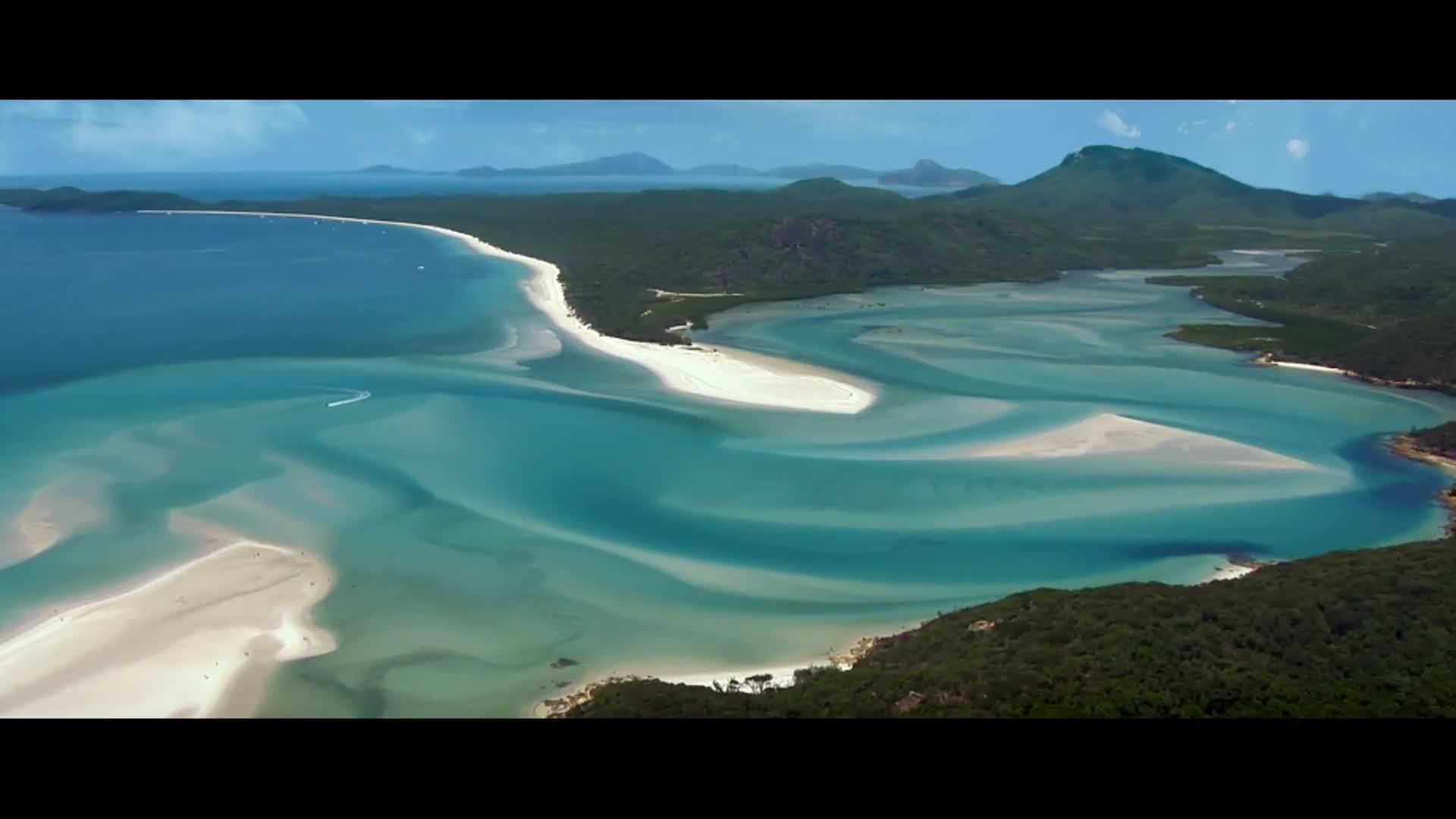 Three minute aquatic and coastal film