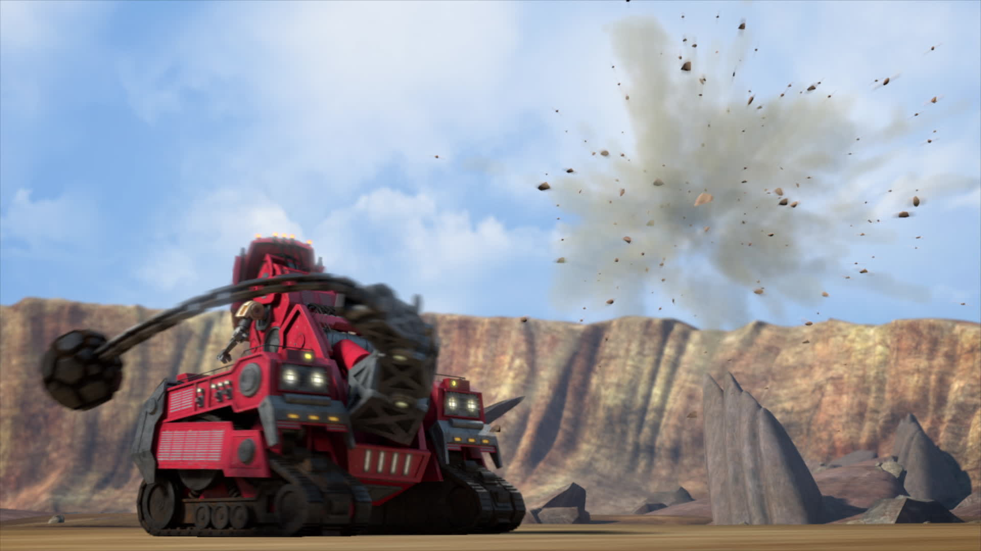 Introductory clip for new Dinotrux '5 Minute Favorites' now on Netflix.