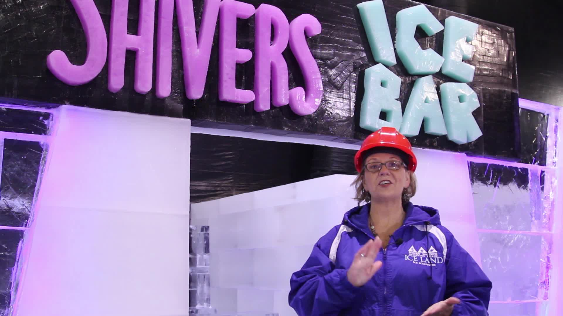 """Moody Gardens introduces Shivers Ice Bar, a fully functional bar made completely of ice and a new Caribbean Christmas theme at """"ICE LAND: Ice Sculptures"""" when it opens for the holiday season Nov. 12 - Jan. 8 in Galveston, TX."""