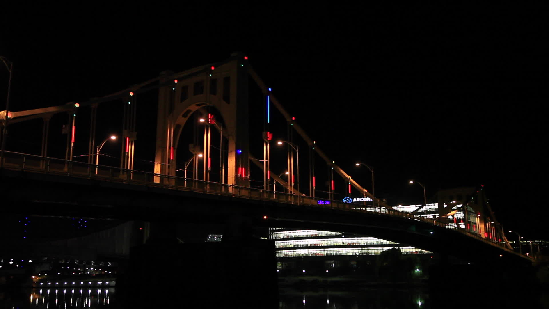 A new 27,000 multi-colored LED lighting display on the Rachel Carson Bridge will beautify Pittsburgh's night-time skyline with the help of environmentally friendly wind power.  Video credit: Jared Rendon-Trompak