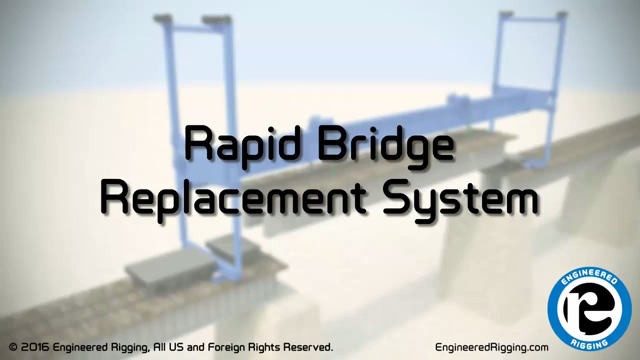 With Engineered Rigging's Rapid Bridge Replacement System, railroads and their maintenance contractors can remove and replace a railroad bridge span in just one day.