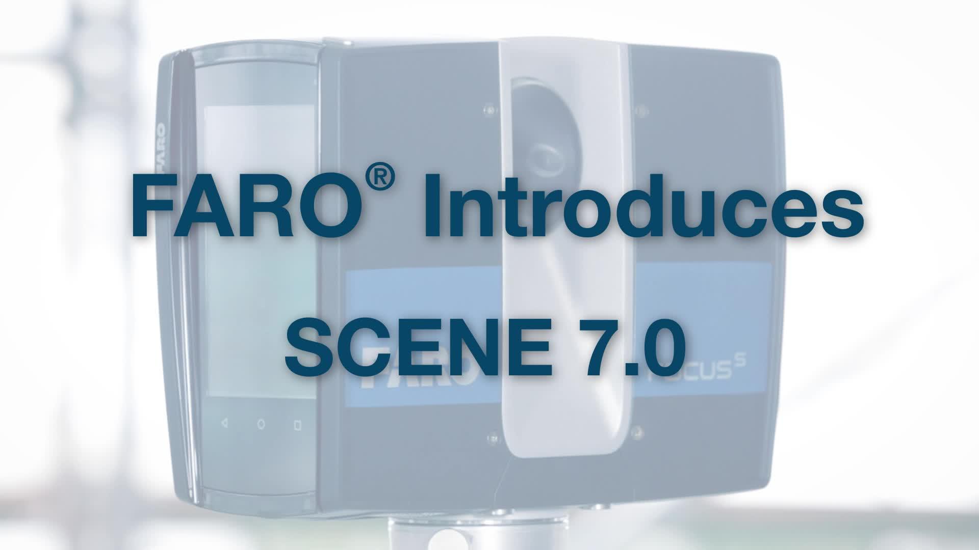 FARO SCENE 7.0 - Real time, on-site registration