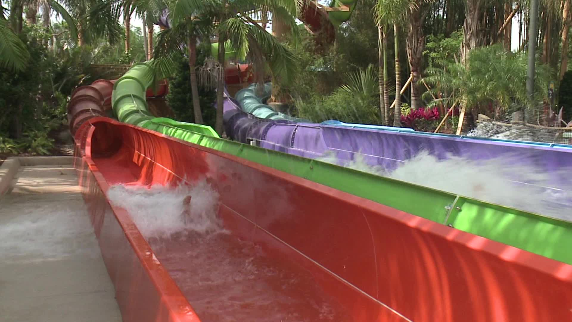 Brave the watery free fall on the all-new drop slide, Ihu's Breakaway Falls(TM) - the tallest, steepest and only multi-drop tower slide of its kind in Orlando. Face your fear and each other in a ring of tubes that encircle an almost 80 degree plunge into the abyss. Ihu's Breakaway Falls - now towering over Aquatica, SeaWorld's Waterpark(TM).