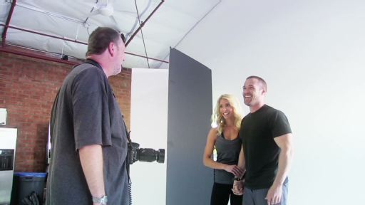 Go behind the scenes at the Chris and Heidi Powell cover photo shoot.