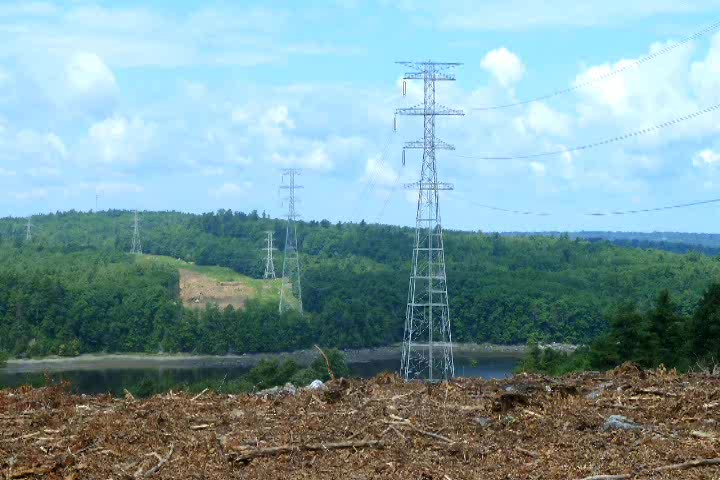 Great video of Central Maine Power using a heavy lift helicopter place and assemble four 370-foot steel transmission towers to cross the Penobscot river between Bucksport and Winterport, Maine – a span of 2,419'. This is exercise was just a very small part of the construction of the $1.4 billion Maine Power Reliability Program, the largest construction project ever in the State of Maine, and the largest electric transmission project ever built in New England.