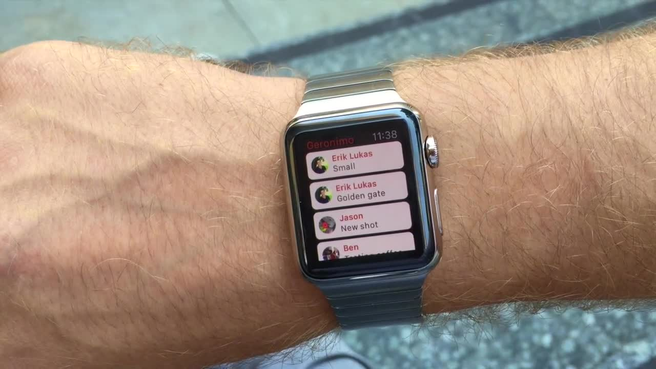 Geronimo on Apple Watch video