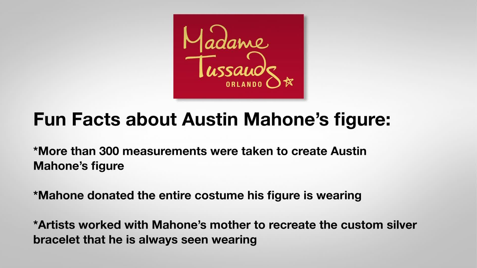Teen sensation and pop artist Austin Mahone played a practical joke on a few of his unwitting fans this week at Madame Tussauds Orlando.