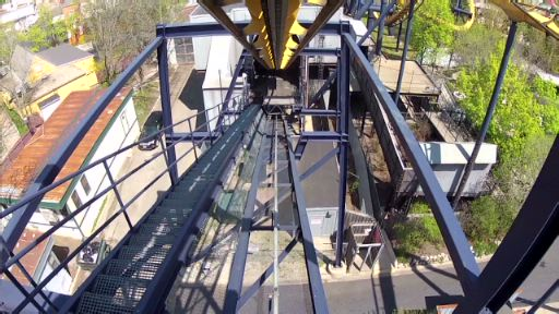 BATMAN The Ride backwards at Six Flags Great America POV footage