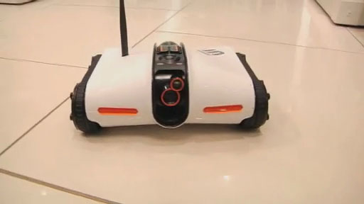 Check out the latest app-controlled toy from Brookstone: the Rover Wireless Spy Tank