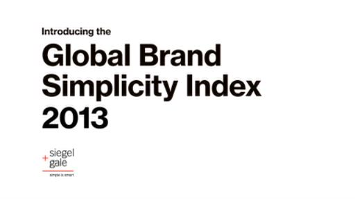 #SimplicityPays - Introducing the Siegel+Gale 2013 Global Brand Simplicity Index