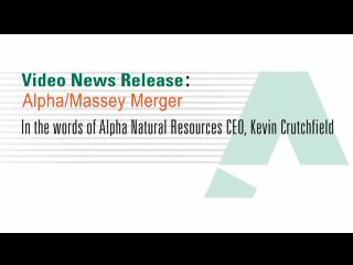 Alpha Natural Resources, Inc. CEO, Kevin Crutchfield, discusses closing of transaction to acquire Massey Energy Company.