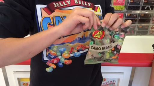 Jelly Belly Candy Company will donate a portion of the proceeds of every package of Jelly Belly Camo Beans purchased to aid U.S. veterans and their families.