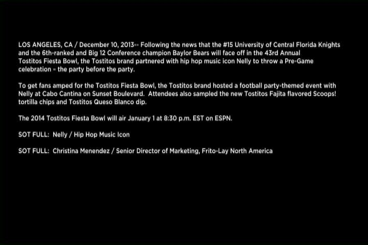 The Tostitos Brand And Nelly Get Fans Amped Up For The 2014 Tostitos Fiesta Bowl At The Ultimate Pre-Game Party