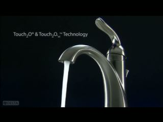 Delta® faucets with Touch2O® Technology for the bathroom, introduced this year, turn on with a simple tap to the faucet handle or spout. Another tap or inactivity for one minute will stop the flow of water. For an entirely hands-free experience, Delta Faucet offers Touch2O.xt™ Technology, which activates on contact or when you move your hands within the faucet sensing zone, which is anywhere within four inches of the faucet.