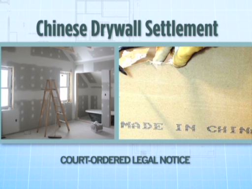 Commercial airing to inform Class Members about Chinese Drywall Settlement.