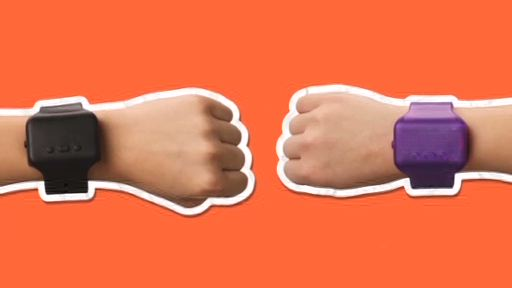 Hallmark introduces Text Bands - a new product that encourages kids to connect face to face while using an interactive wristband. Kids can exchange messages with friends simply by bumping fists or shaking hands.