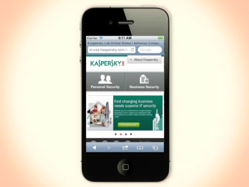 Kaspersky Lab U.S. Mobile Website Video Demo