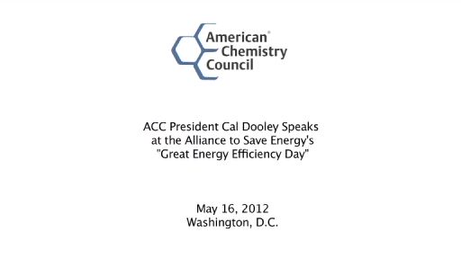 ACC President and CEO Cal Dooley at the Alliance to Save Energy's Great Energy Efficiency Day