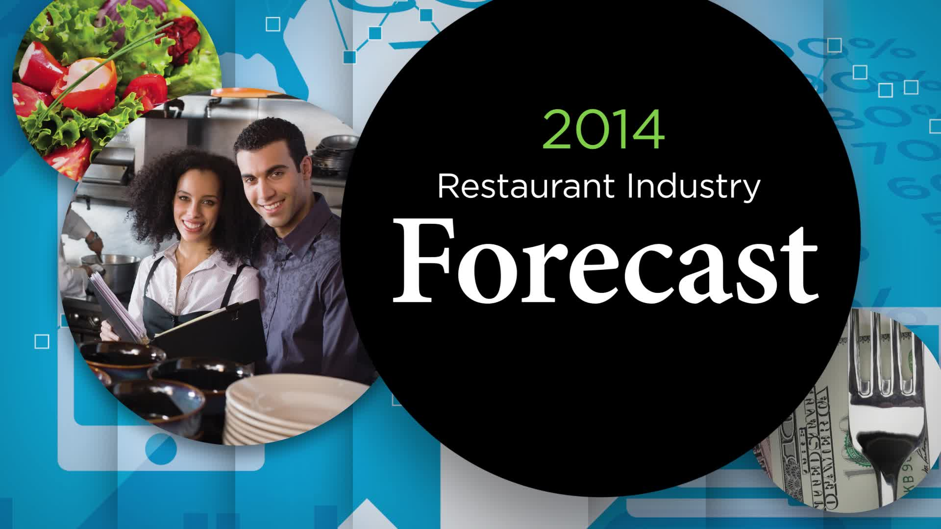 The National Restaurant Association's 2014 Restaurant Industry Forecast explores how consumers choose where to dine and other consumer trends. Visit http://www.restaurant.org/forecast for more information.