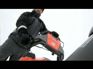 See the new Husqvarna snow thrower in action!