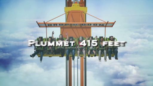 Video Teaser for Zumanjaro - the world's tallest drop ride - coming to Six Flags Great Adventure in 2014.