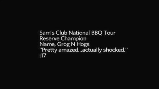 Sam's Club National BBQ Tour Reserve Champion, Grogs N Hogs, from Richmond, Va.